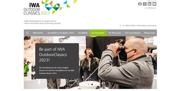 IWA Outdoor Classics Online Marketing Website